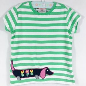Hanna Andersson | Striped Dog Tee